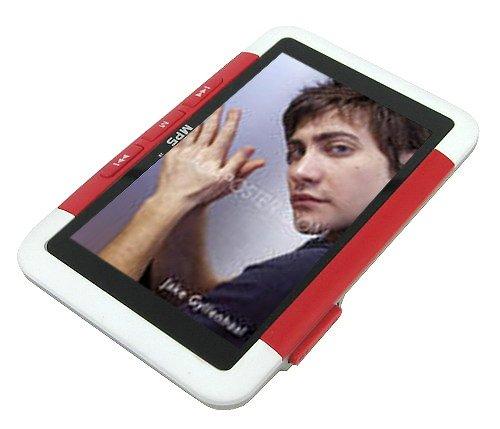 8GB 3.0 Inch RM/RMVB MP4/ MP5 Player - Red / White
