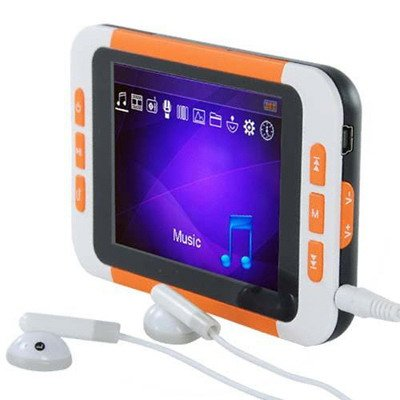 8GB 3.5 Inch MP5 Player with FM- Orange / White