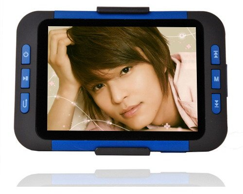 8GB 3.5 InchMP4 MP5 Player with Card Slot - Blue/Black