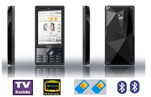 Quad Band Dual SIM Cards TV Mobile Phone