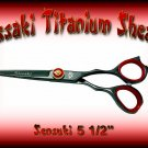 Kissaki Pro Hair 5.5 inch Sensuki Designer Series Black Titanium Shears / Scissors / Salon / Barber