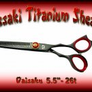 Kissaki Pro Hair 5.5 inch Daisaku 26 tooth Black Titanium Thinning Shears / Scissors / Salon Barber
