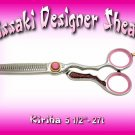 Kissaki Professional Hair Stylist 5.5 inch Kiriha 27 tooth Designer Thining Shears Scissors Salon