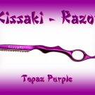Kissaki Topaz Purple Professional Hair Feathering Razor