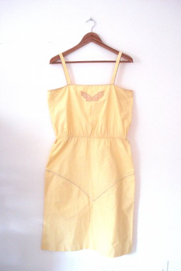 Vintage 1980 Yellow and Gold Dress from Pudding
