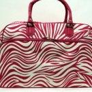 Travel  Bag Fushia Zebra Print