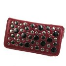 Studded Zipper Clutch