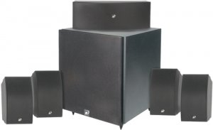 """DAYTON 5.1 HOME THEATER PACKAGE 10"""" POWERED SUBWOOFER"""