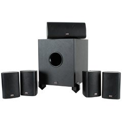 """MTX 5.1 HTB1 HOME THEATER PACKAGE 8"""" POWERED SUBWOOFER"""