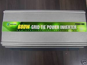 POWER JACK GRID TIE PURE POWER INVERTER 1200 WATTS MAX 600 WATTS