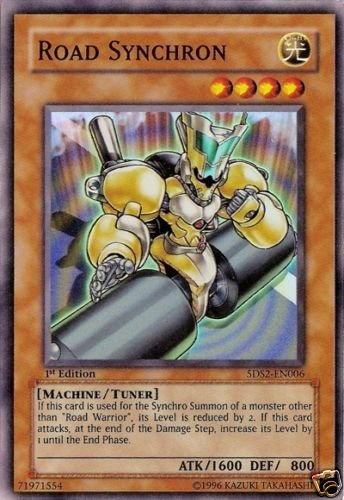 yugioh card 5ds2en006 1st edition road synchron super rare