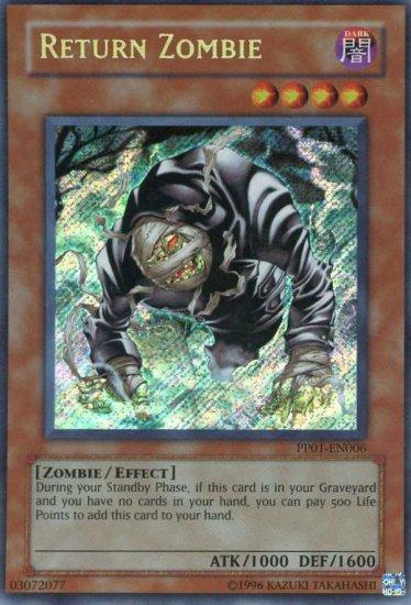 Yu Gi Oh Pp01 En006 Return Zombie Secret Rare Mint