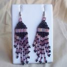 Drop Earrings in Purple & Black