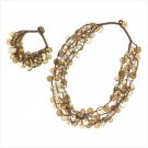 Coconut Calypso Necklace & Bracelet Set