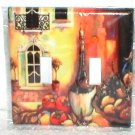 TUSCAN & WINE DESIGN DECORATIVE LIGHT SWITCHPLATE COVER