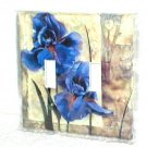BEAUTIFUL IRIS DESIGN~DECORATIVE LIGHT SWITCHPLATE