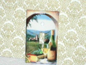 TUSCAN WINE AND VINEYARD DESIGN LIGHT SWITCHPLATE(sng)
