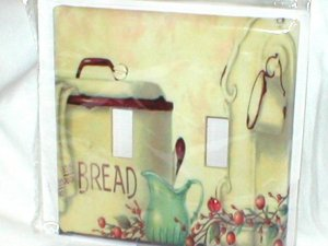 VINTAGE STYLE~BREAD BOX~DECORATIVE LIGHT SWITCHPLATE