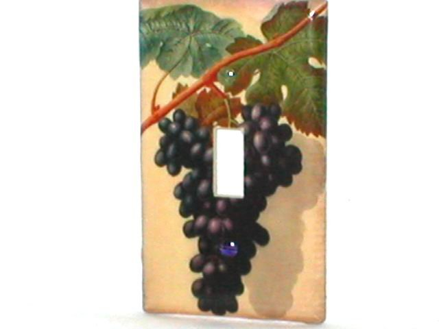 CLASSIC GRAPES~DECORATIVE DESIGN LIGHT SWITCHPLATE COVER