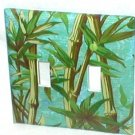 CLASSIC BAMBOO DESIGN~DECORATIVE LIGHT SWITCHPLATE(tl)