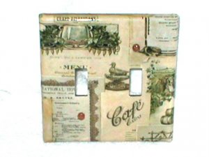 FRENCH DESIGN`MENU~VINTAGE STYLE LIGHT SWITCHPLATE