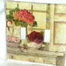 SHABBY ROSES&HYDRANGEA DESIGN LIGHT SWITCHPLATE