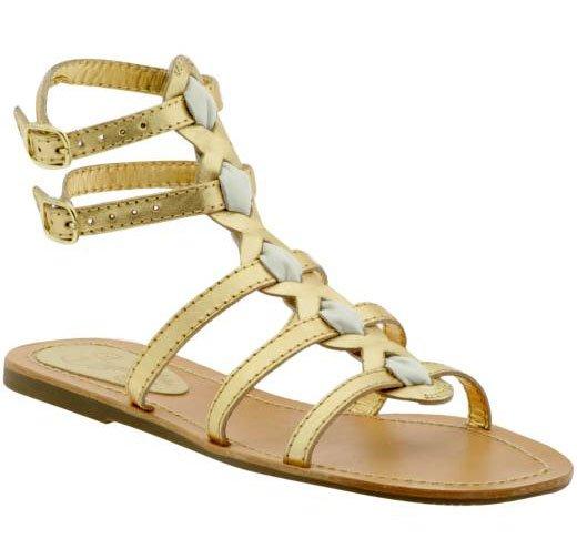 Seychelles Metallic Gladiator Sandal - US 9 - Gold
