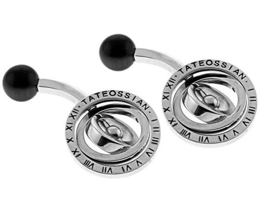 Tateossian Black Planetarium Cufflinks