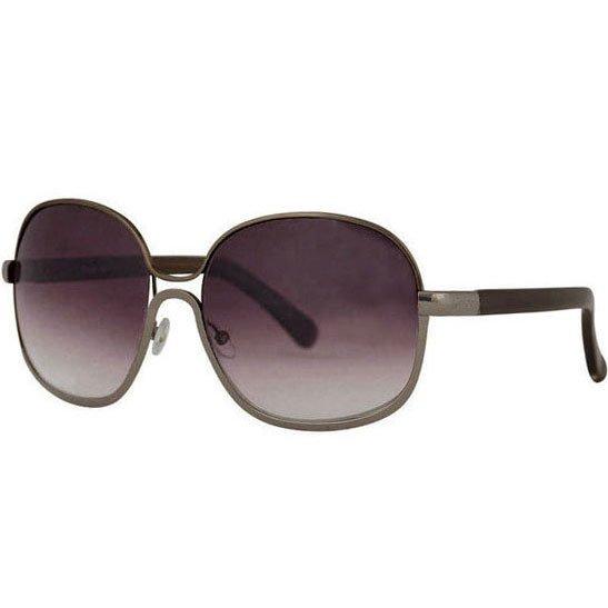 Chloe Oversized Chrome Retro Sunglasses - Gunmetal