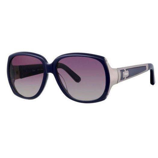 Chloe Oversized Hakea Vintage Sunglasses - Navy/Gunmetal