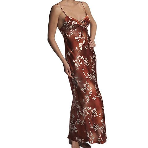 Natori Painted Floral Print Silk Gown - XS (2/4)