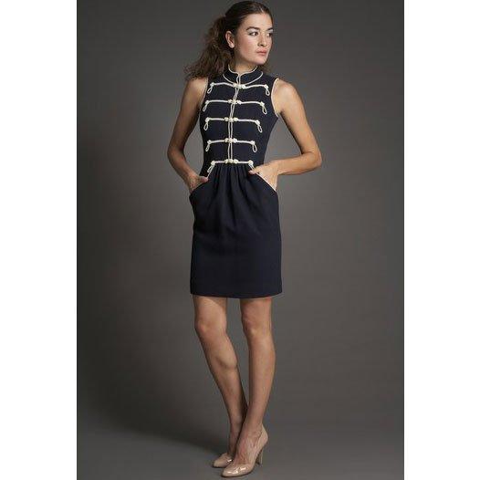 Chanel Nautical Pearl Dress - 34 - Navy