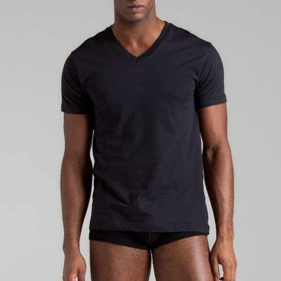 2(x)ist Black Jersey V-Neck Tee 3-Pack - XL
