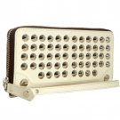 Be&D Large Garbo Wallet Wristlet - Cream