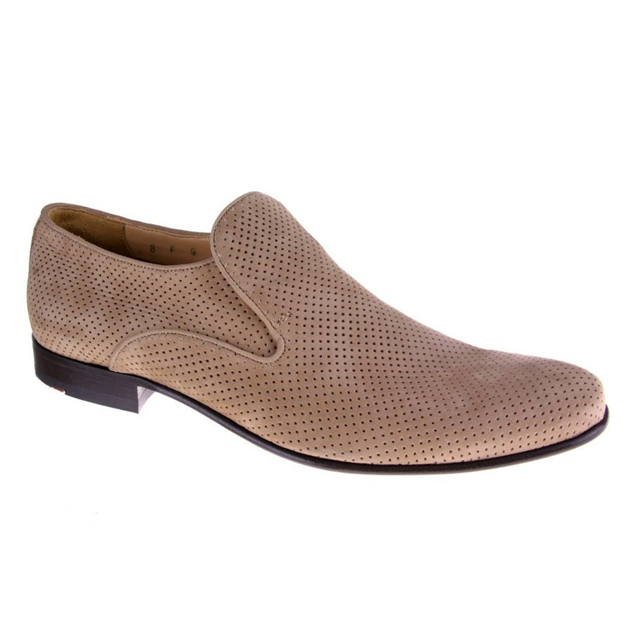 Lloyd Perforated Suede Slip-on Shoe - US 11 - Taupe