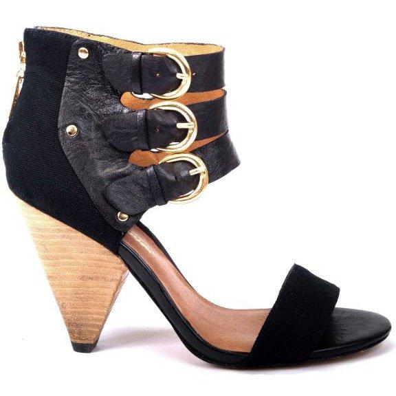 Matt Bernson Cortez Heel Sandals - US 7 - Black