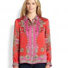Marchesa Voyage Silk Treasure Scarf Blouse - US 2