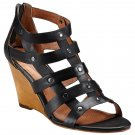 Corso Como Gladiator Wedge Sandal - US 9 - Black
