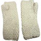 Alpaca Hand Knit Armwarmers - Ivory