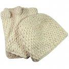 Alpaca Hand Knit Hat - Ivory