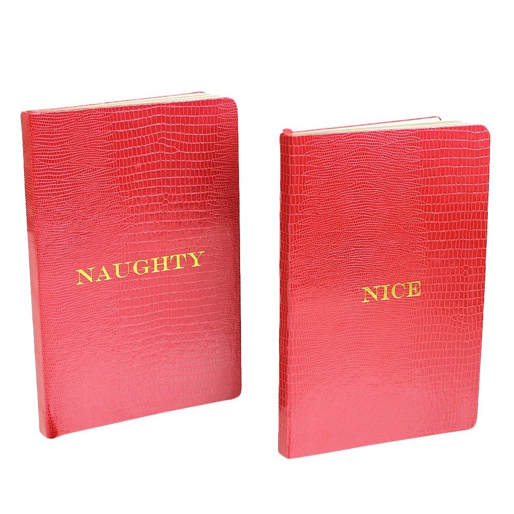 D.L. & Co. Naughty & Nice Large Journal - Red