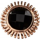 MRE Jewelry Rose Gold Onyx Ring