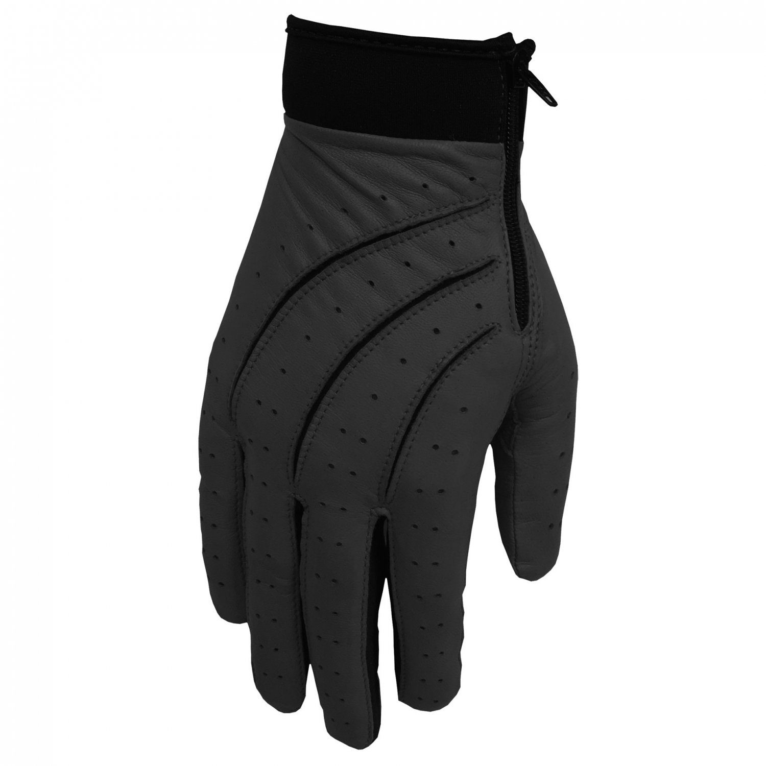 Hilts-Willard Men's Leather Stretch Driving Gloves - S - Black