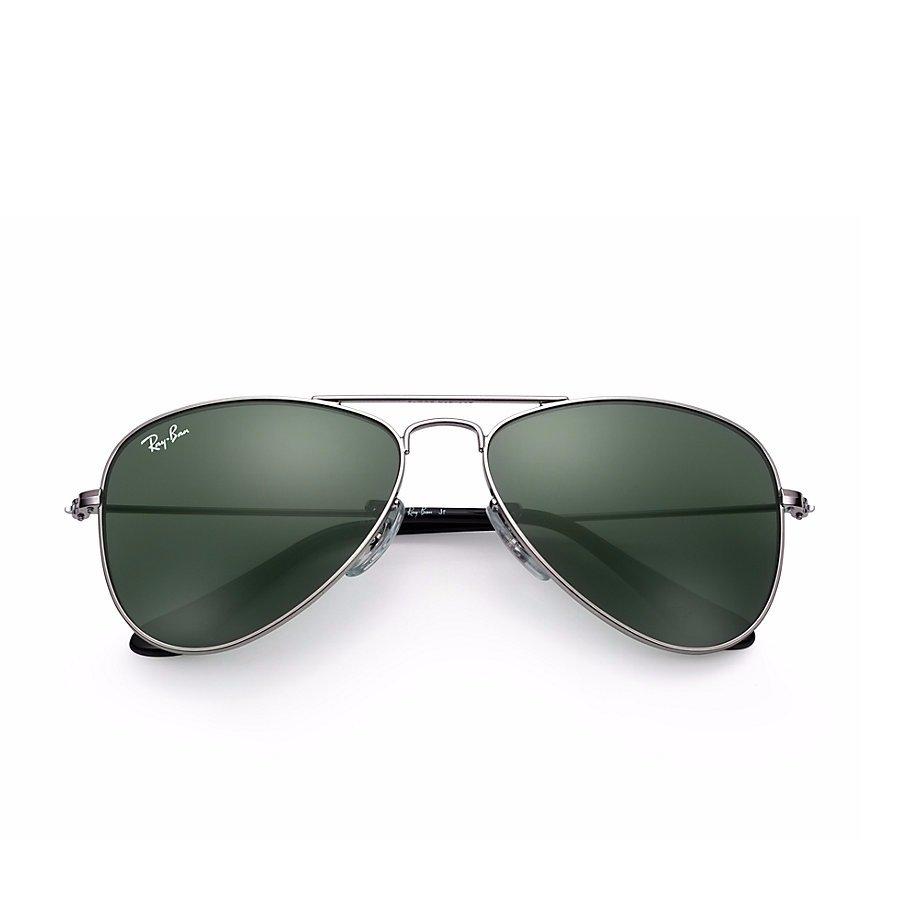 Ray-Ban Jr Aviator Sunglasses - Gunmetal/Classic Green