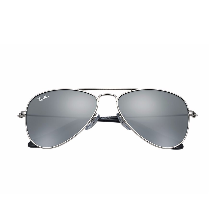 Ray-Ban Jr Aviator Sunglasses - Silver/Mirror Silver