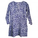 Nusantara Cotton Ikat Tunic - M (US 8) - Navy