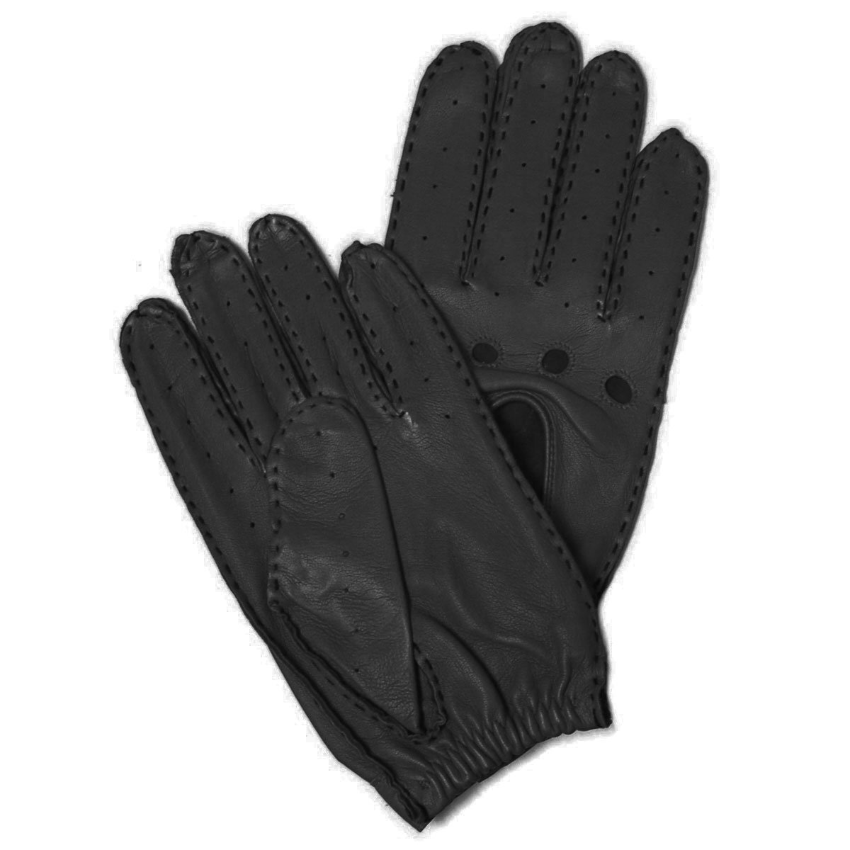 Hilts-Willard Men's Leather Driving Gloves - L - Black