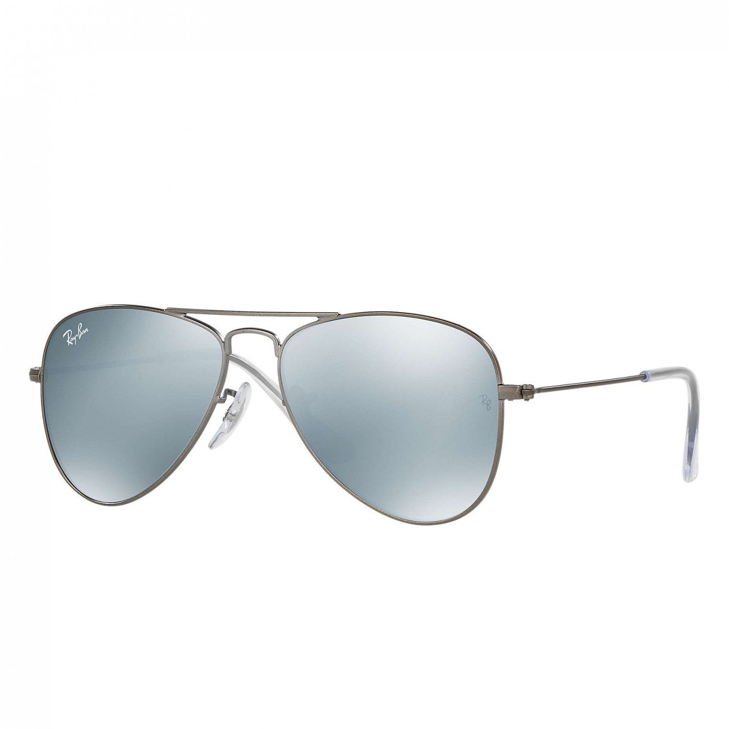 Ray-Ban Jr Aviator Sunglasses - Matte Gunmetal/Mirror Grey