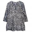 Nusantara Cotton Ikat Tunic - L (US 10) - Black
