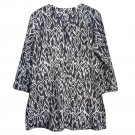 Nusantara Cotton Ikat Tunic - M (US 8) - Black